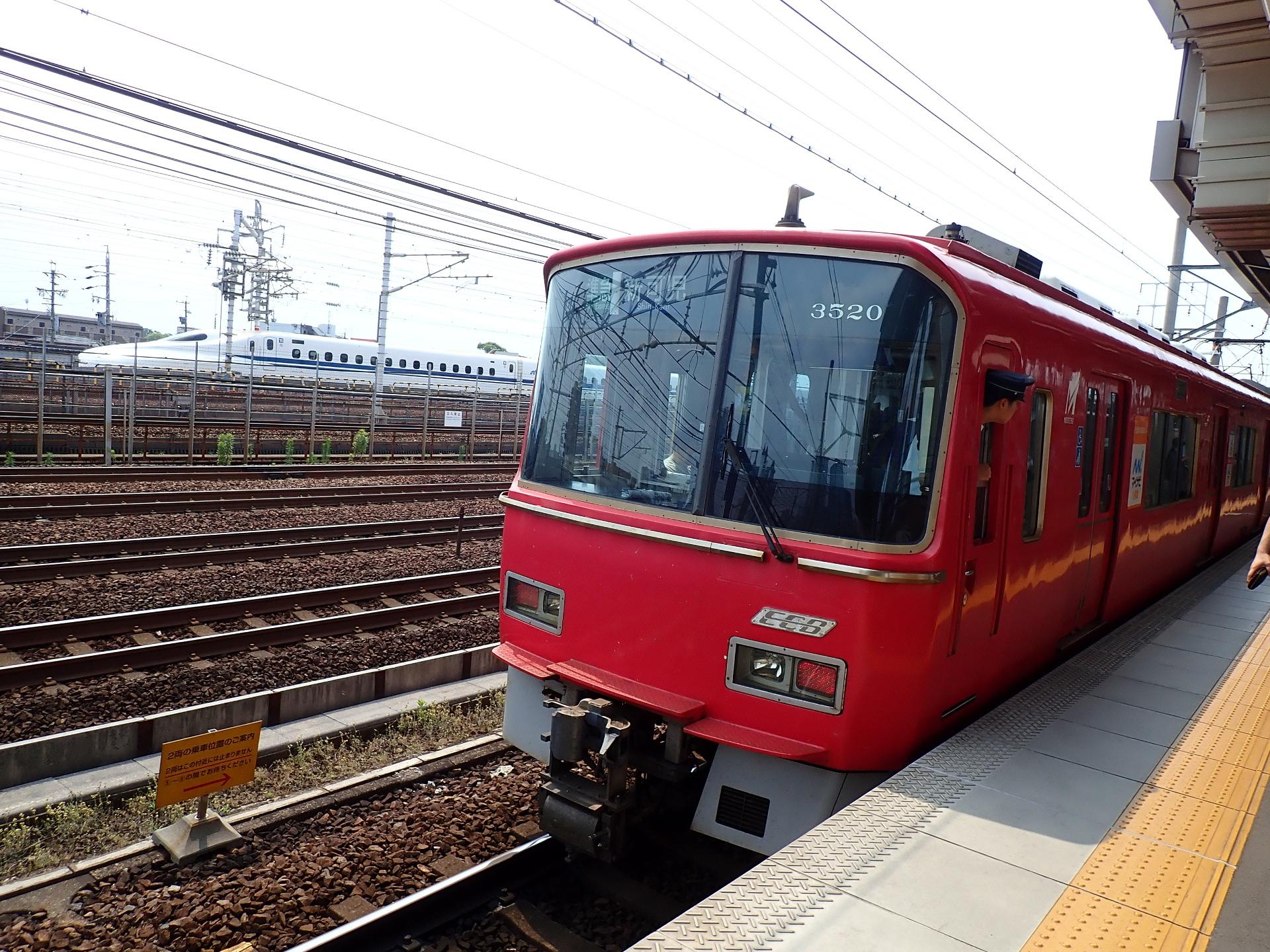 名鉄栄生駅に降りました。