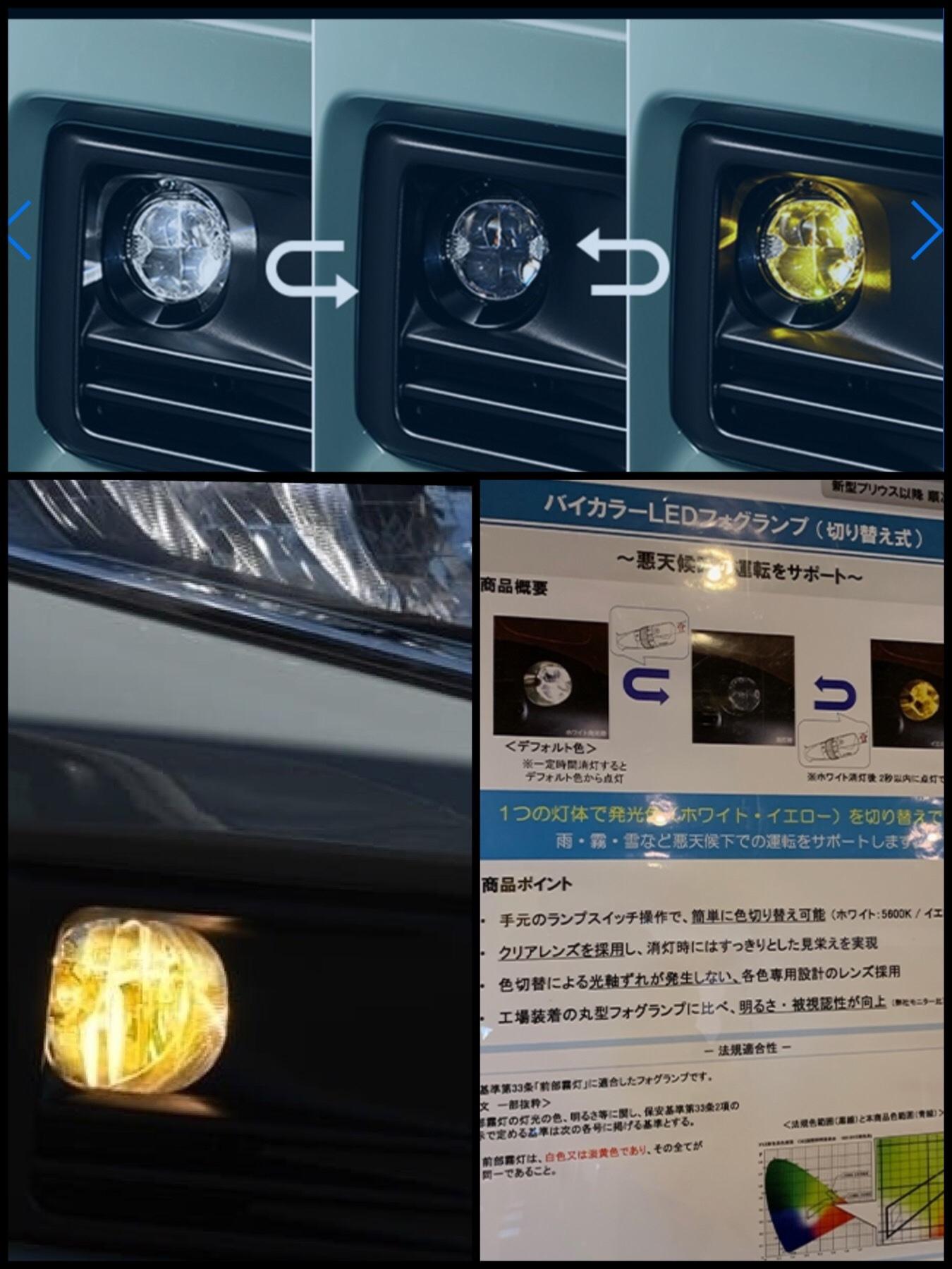 バイカラーLEDフォグランプ トヨタ新型RAV4