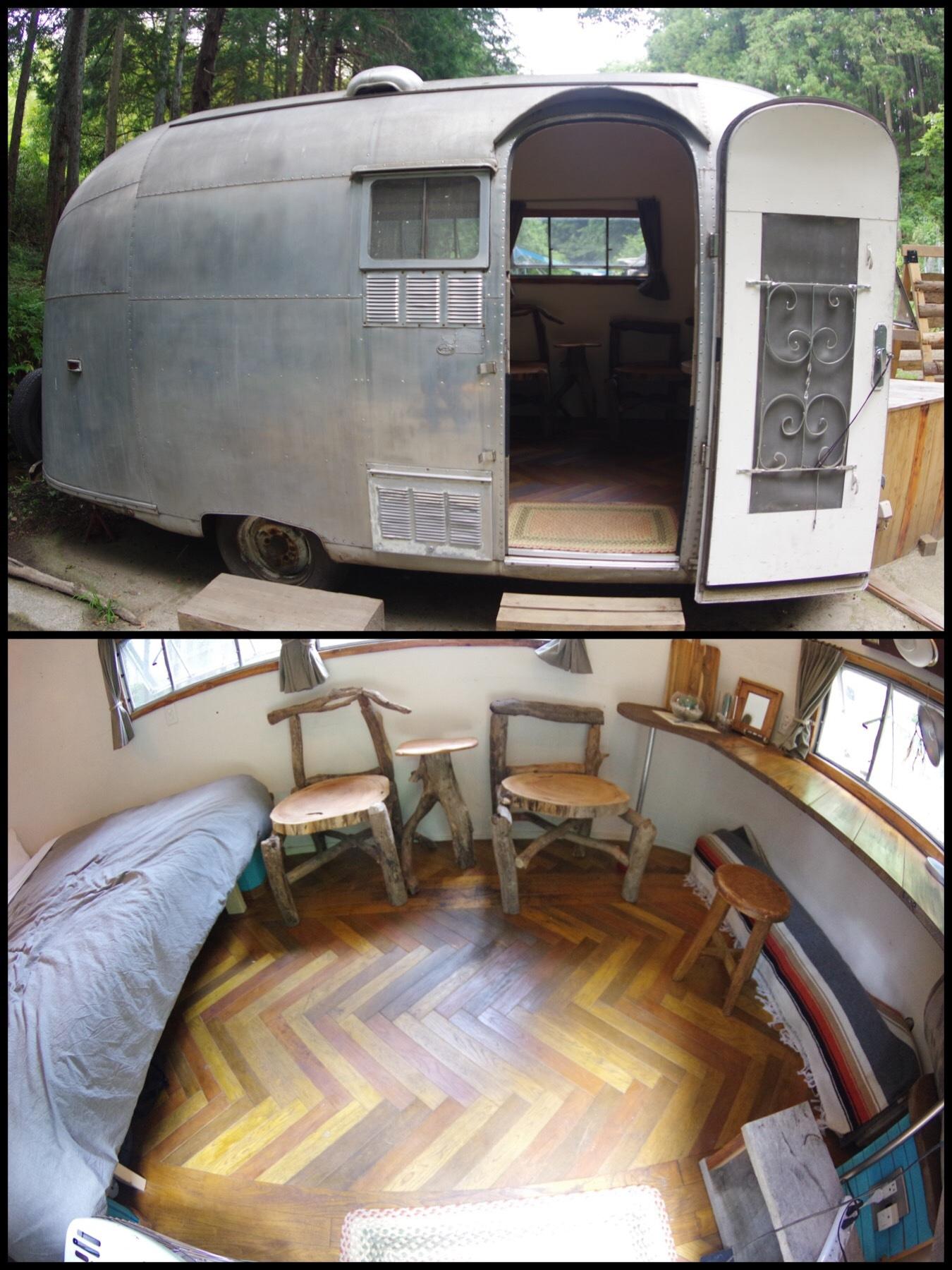 七沢温泉 タイニーキャンプビレッジ tiny camp village トレイラー