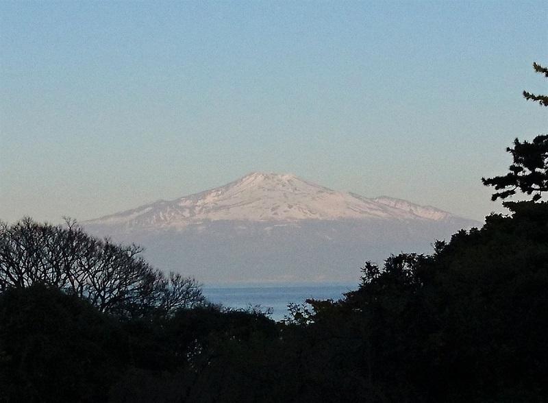 夕方の鳥海山