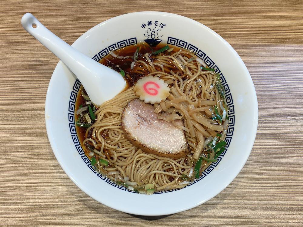 中華そば 六感堂 -- 中華そば 黒(細麺)