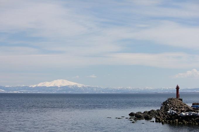 鱒浦で海別岳