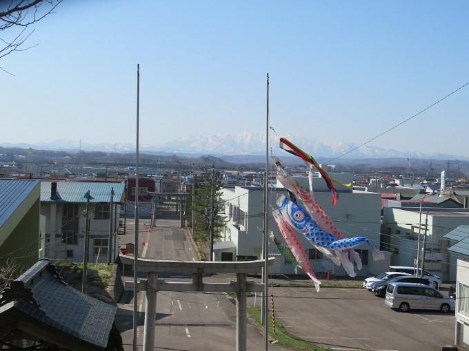 遊楽部岳と神社