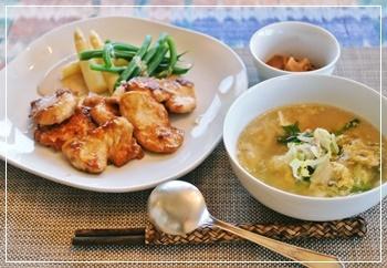鶏肉で夕飯