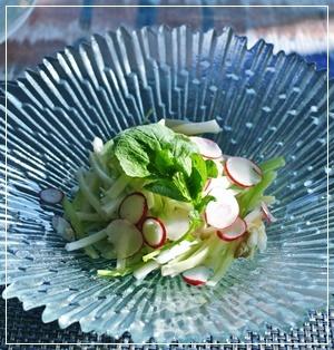 大根&セロリ&貝柱のサラダ