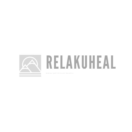 Relakuheal四角い形のロゴ