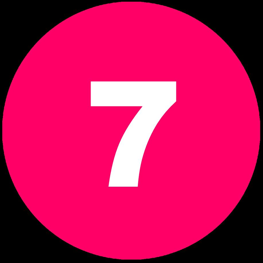 箇条書き丸数字7