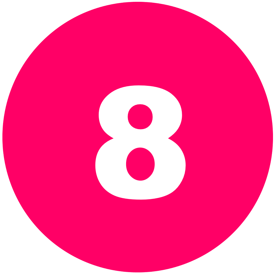 箇条書き丸数字8