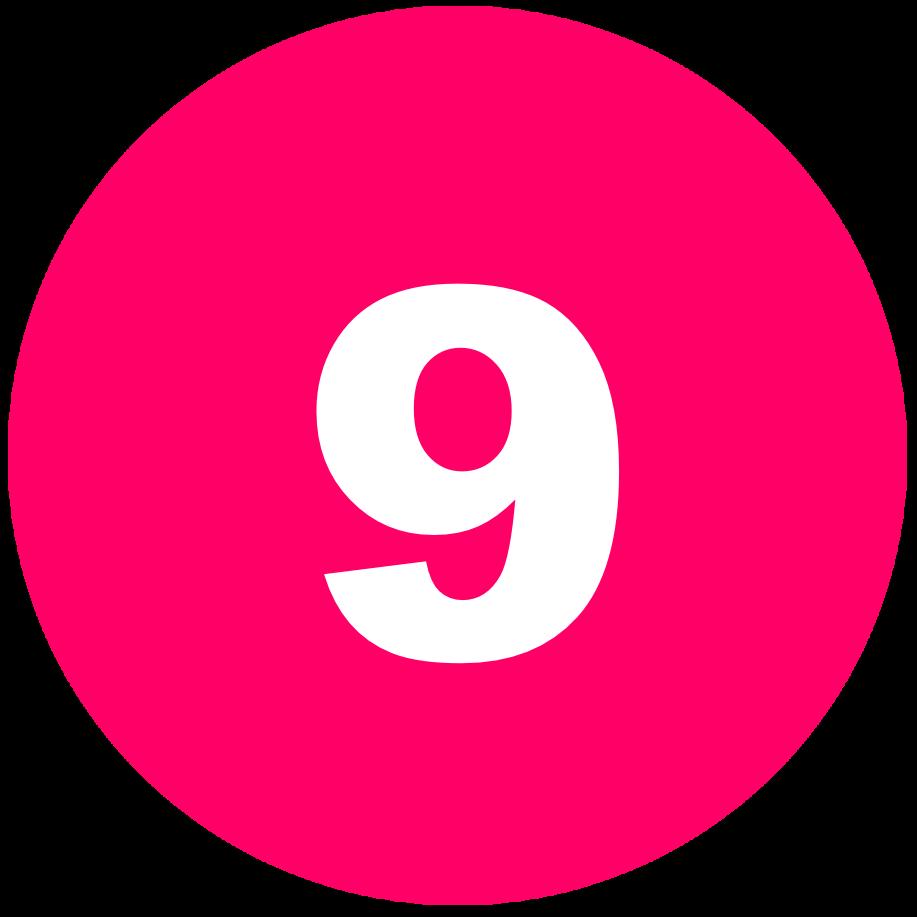 箇条書き丸数字9