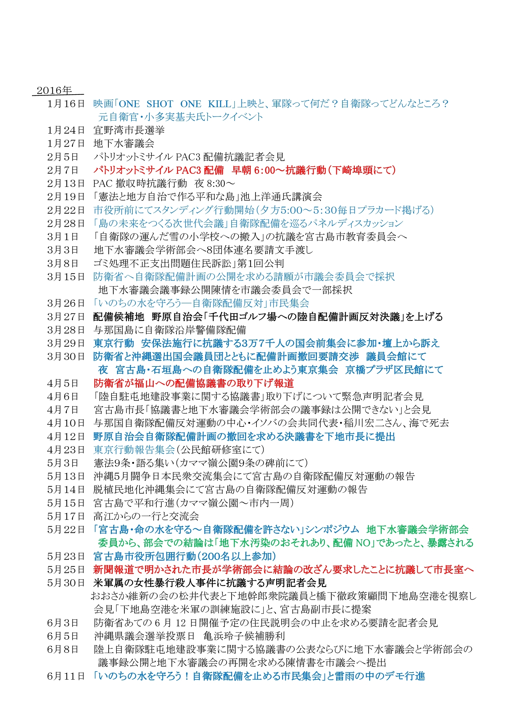 年表:宮古島における反軍反基地の闘い2010~2019 (1)0006