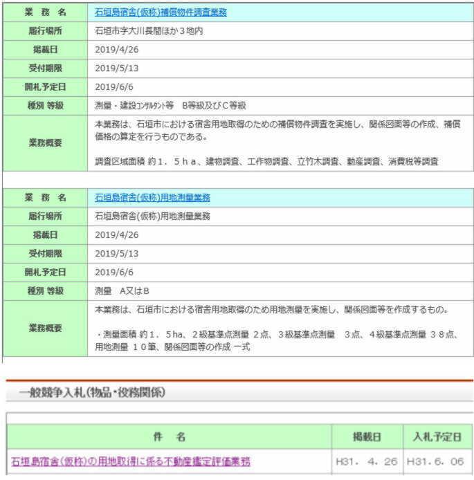 2019 0426 沖防入札公告
