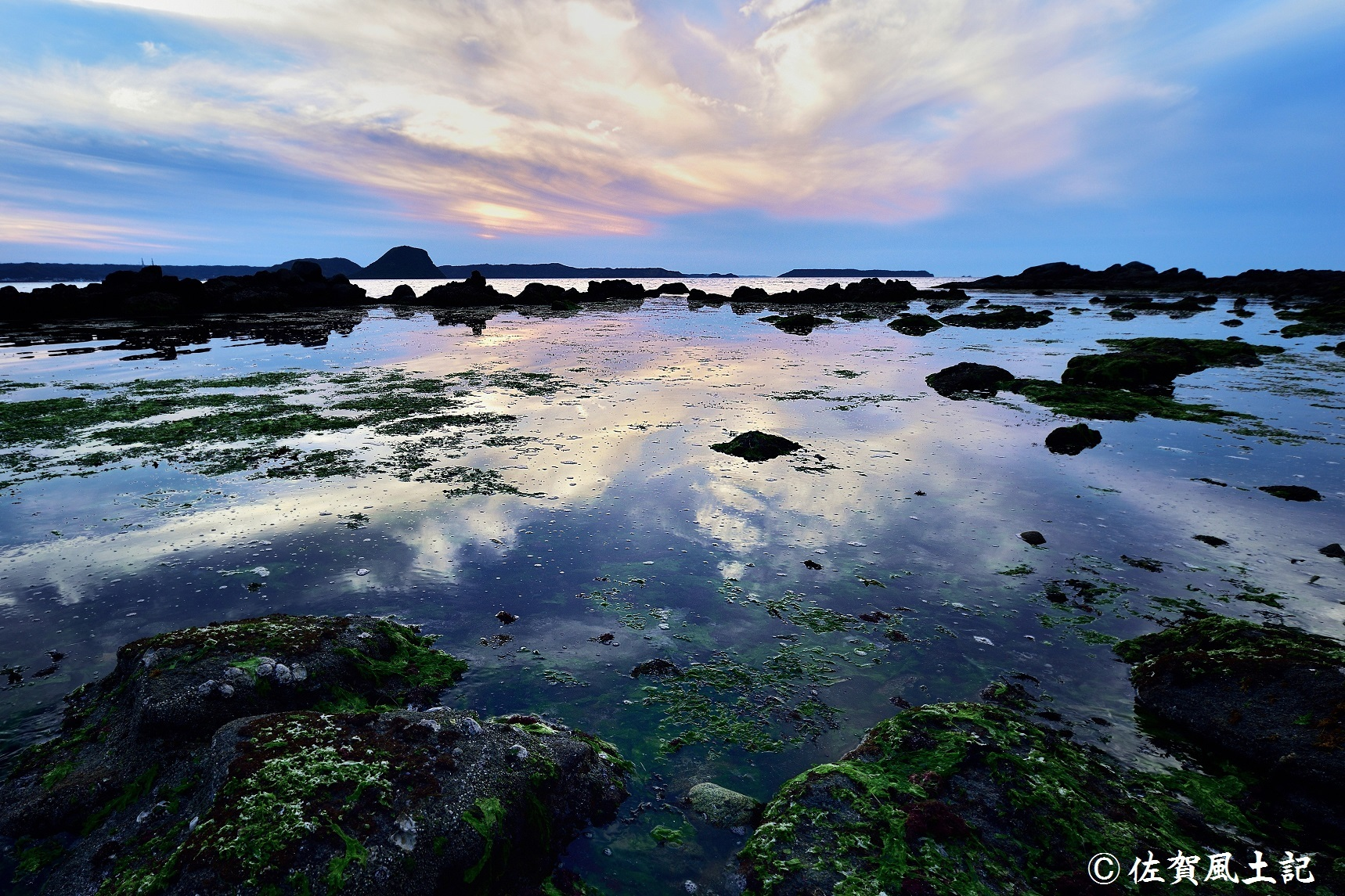 唐津湾の夕日