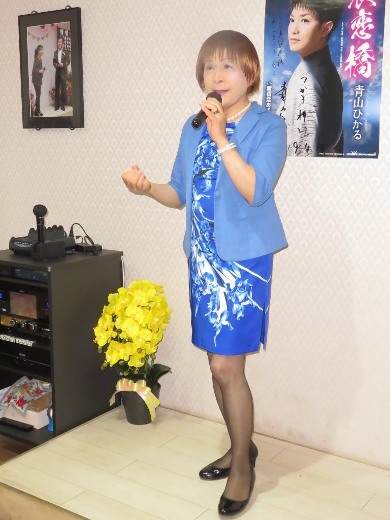 青タイトワンピカラオケ(3)