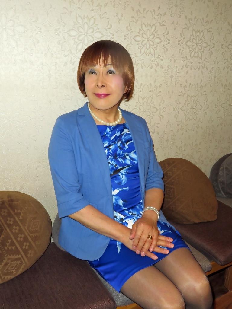 青タイトワンピカラオケ(5)