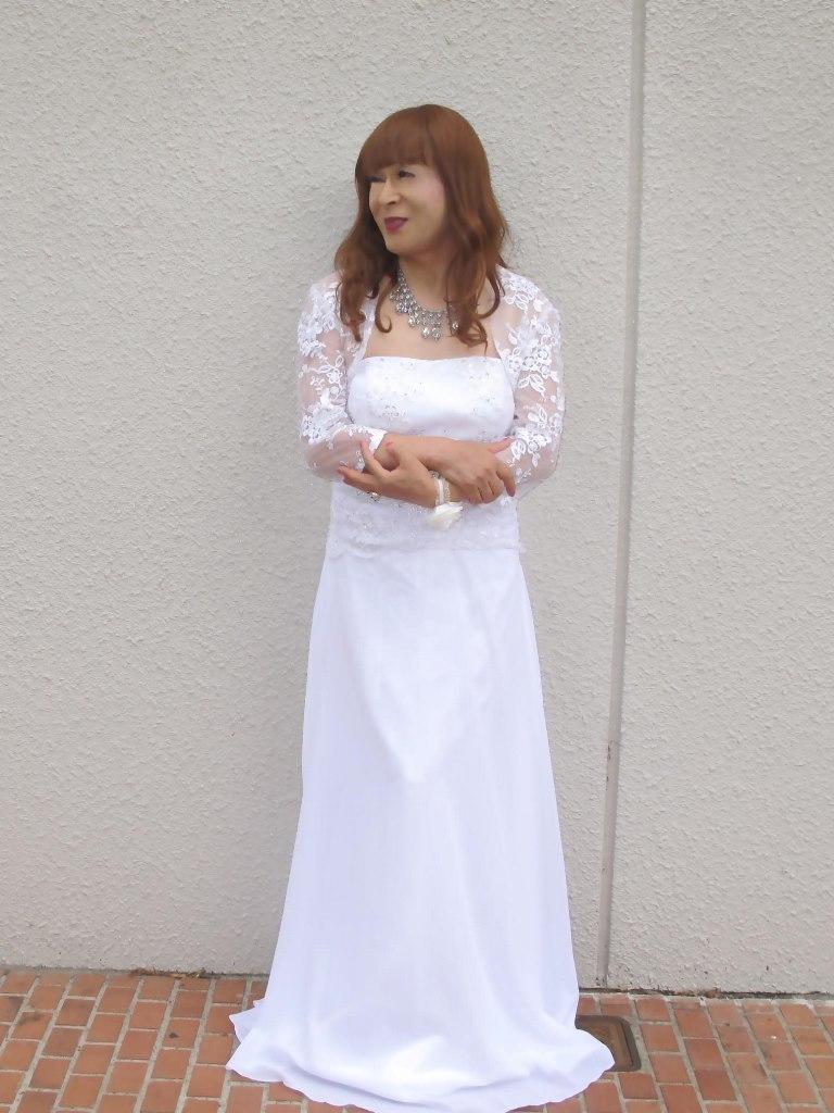 白ロングドレス会場スナップA(4)