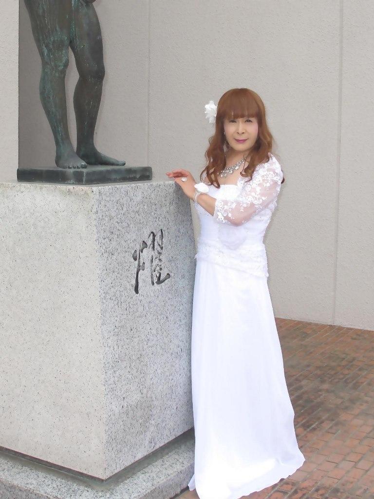 白ロングドレス会場スナップA(7)