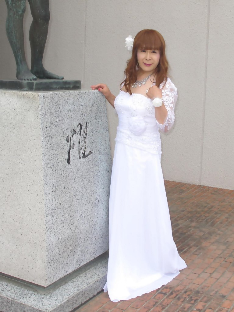 白ロングドレス会場スナップA(8)