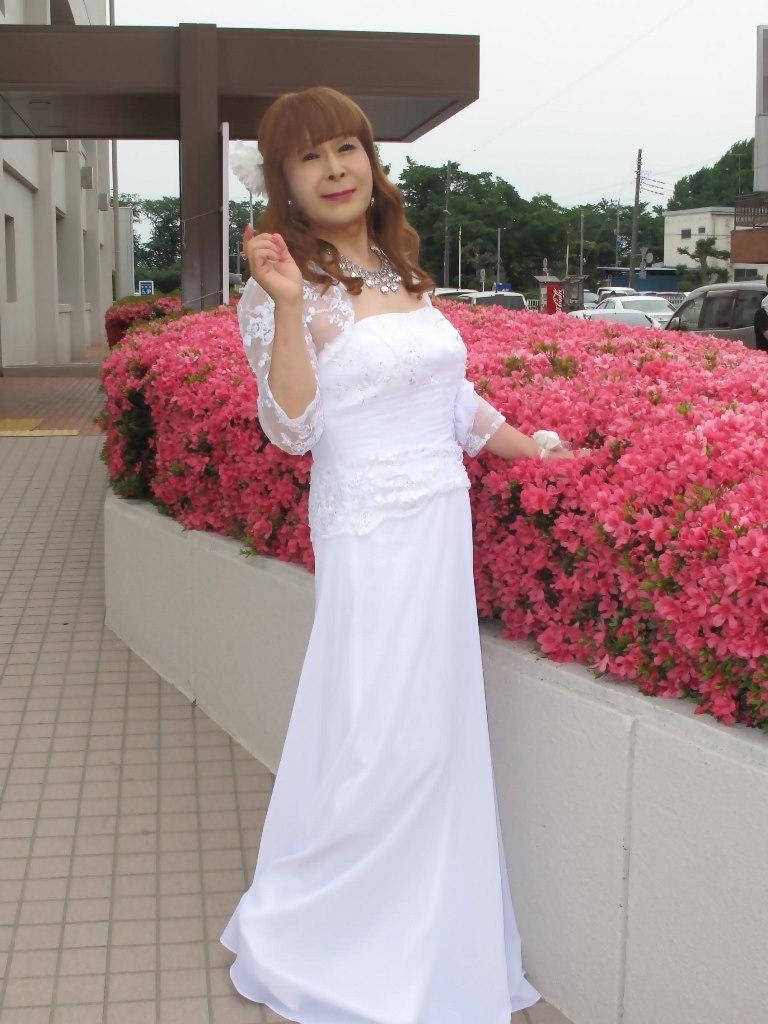 白ロングドレス会場スナップB(2)