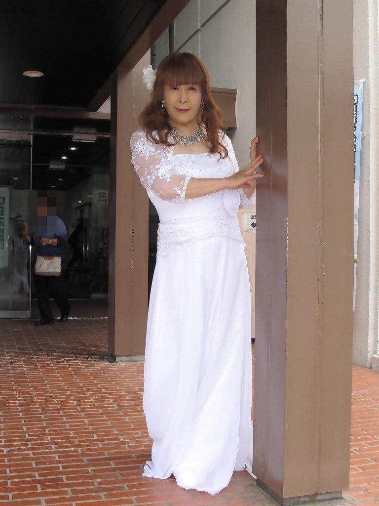 白ロングドレス会場スナップB(3)