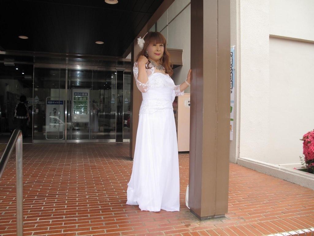 白ロングドレス会場スナップB(4)