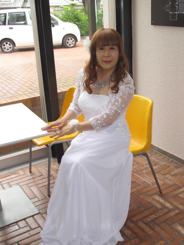 白ロングドレス会場スナップB(7)