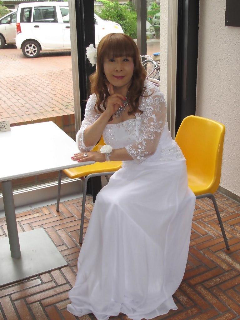 白ロングドレス会場スナップB(8)