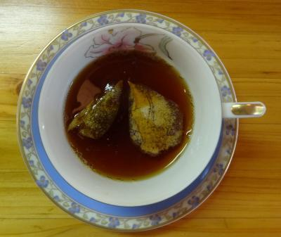 紅茶に浮かべ