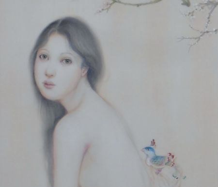 花喰鳥  制作中の画像
