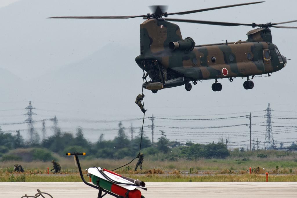 CH-47J ラペリング降下