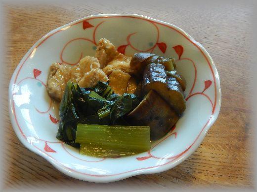 なす 煮浸し 小松菜