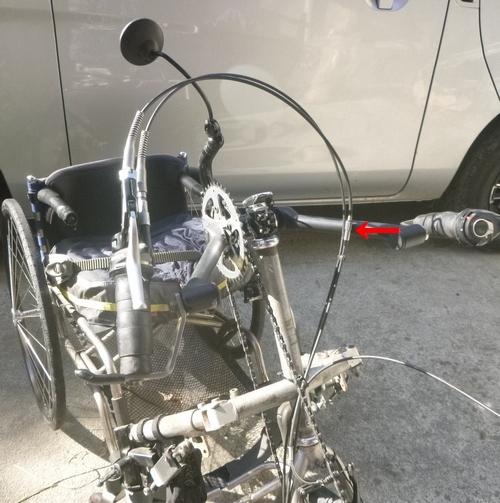 ハンドバイク ワイヤー 全