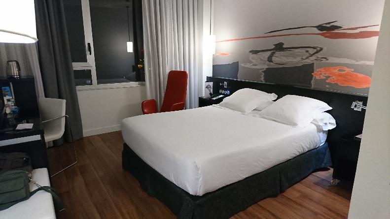 日本時間で夜中2時くらい ホテル内