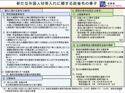 入管法政省令の概要