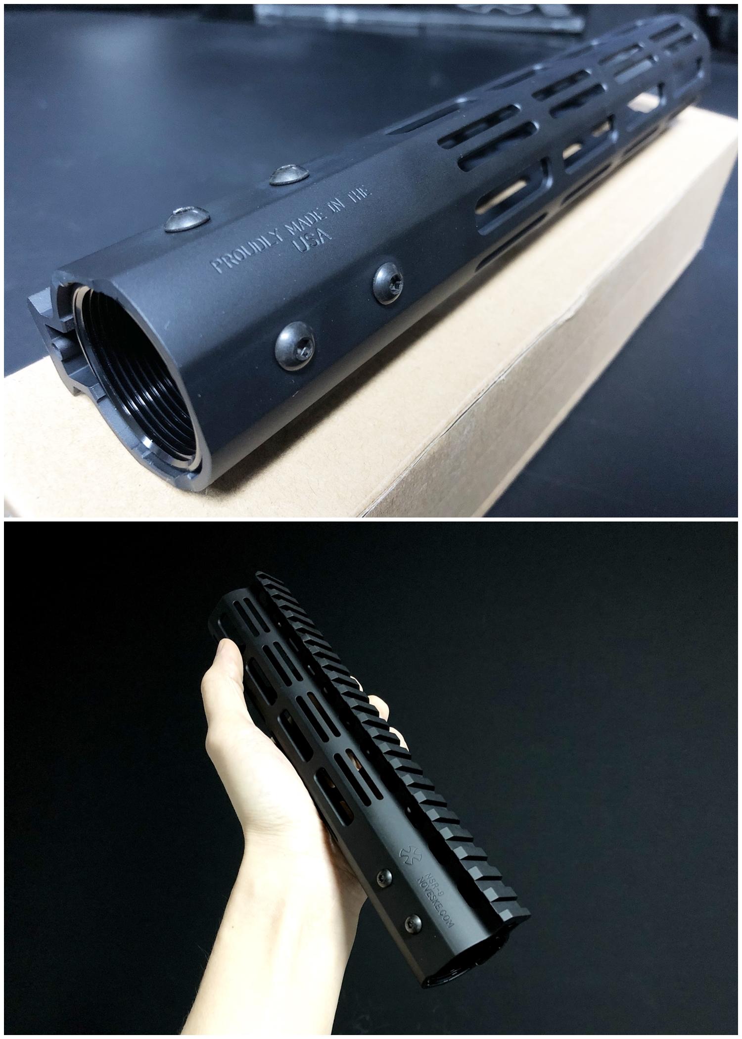 4 IRON AIRSOFT M-LOK NOVESKE TYPE 9inch NSR RAS N4 M4 AR15 次世代 CQB-R ノベスケ ハンドガード 購入~取付 分解 交換 検証 レビュー!!