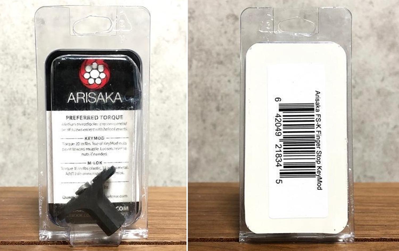 2 KeyMod 実物 ARISAKA DEFENSE LLC FINGER STOP M-Lok & KeyMod アリサカ フィンガーストップ ハンドストップ 購入 開封 取付 検証 比較 レビュー!!