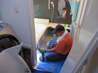 18浴槽アダプター水漏れチェック