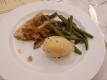 ホテルの夕食①