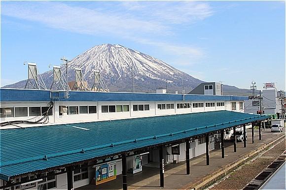 s-⑮倶知安駅と羊蹄山