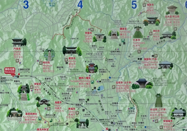1鎌倉市観光案内図