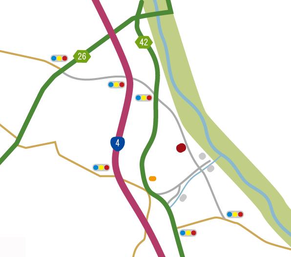 タカベ株式会社最寄り地図