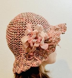 まつ編み帽子