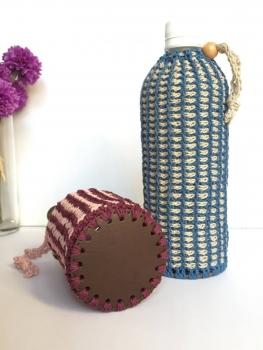 アフガン編みのペットボトルカバー2