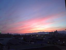 前に撮った夕焼け空♪