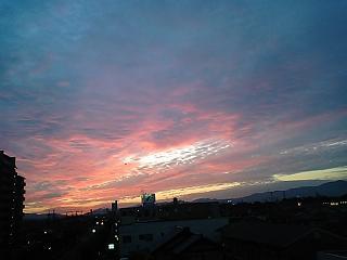 バルーンのある夕空