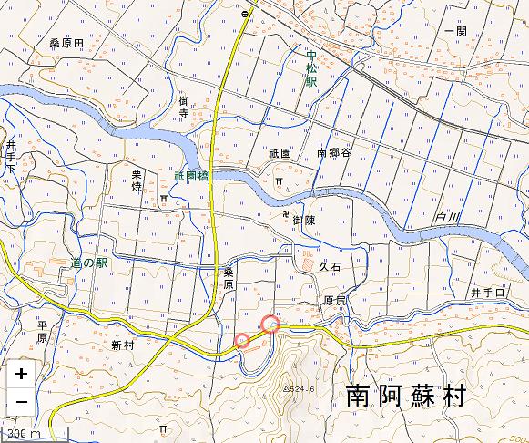 中松駅南地図