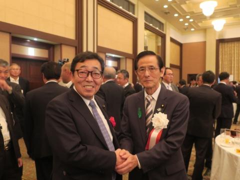 「岡田 広君の参議院自民党議員副会長就任を祝い、更なる活躍を期する会」⑤