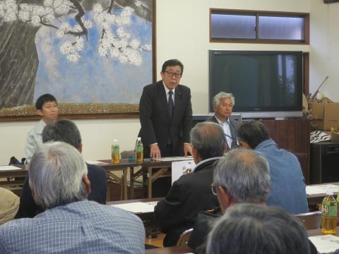 「県道石岡筑西線村上・林地区改修工事」地元説明会①