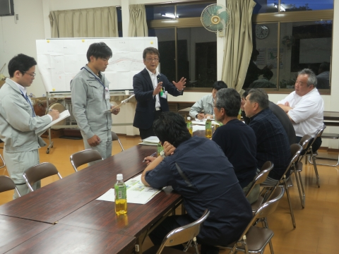 「県道石岡筑西線村上・林地区改修工事」地元説明会⑥1