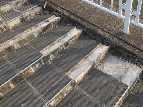 「北小の子供達の通学路の危険階段が修復されました!」④_R