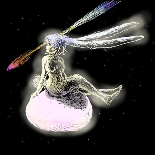 みみながバニーと空飛ぶ卵